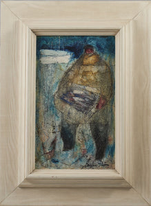 'Fiskare med sillåda, Abbekås' (Fisherman with herring, Abbekås) by Carsten Ström