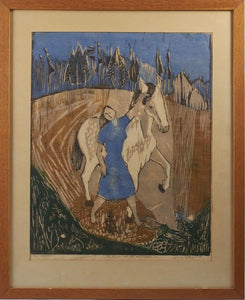 'Woman and Horse' by Gerry Eckhardt