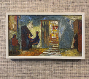 'Interior with Figure at the Piano' by Gunnar Gustafsson