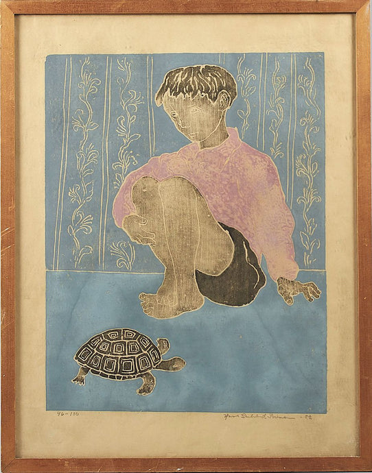 'Boy With Turtle' by Hans Gerhard Sørensen