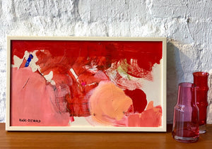 'Red and Pink Abstract' by Hans Osswald