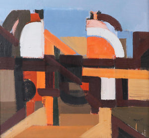 'Abstract in Orange, Brown and Blue' by Ivar Morsing