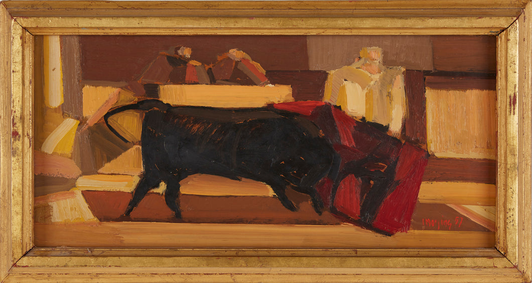 'Tjurfäktning I Ipanema' (Bullfight in Ipanema)  by Ivar Morsing