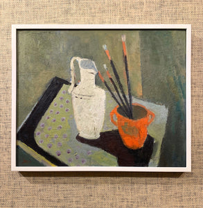 'Still Life with Vase and Paint Brushes' by John Börén