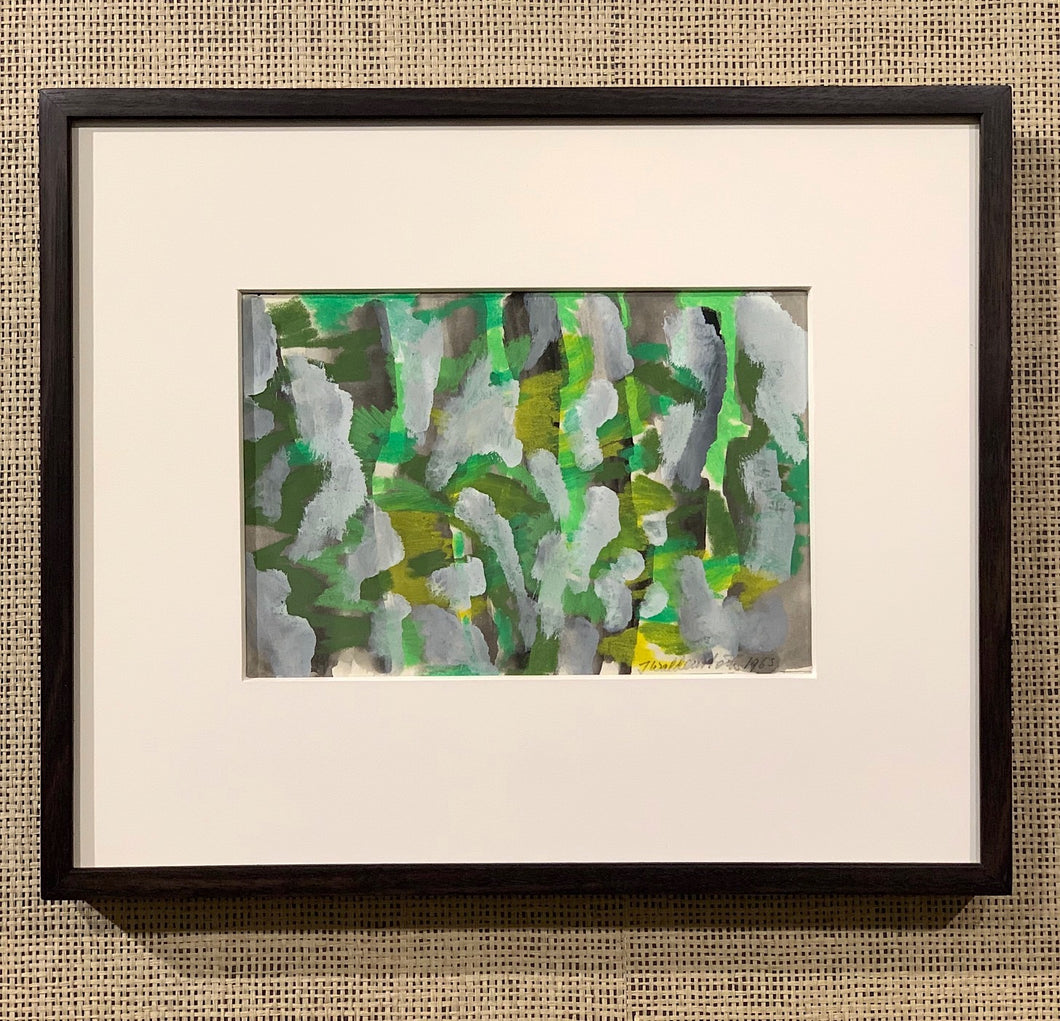 'Abstract in Green and Grey' by Johan Waldenström