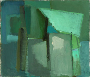 'Abstract in Green and Teal' by Kjeld Hansen