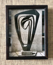 Load image into Gallery viewer, 'Meridian Sculpture by Barbara Hepworth' - original vintage press photograph