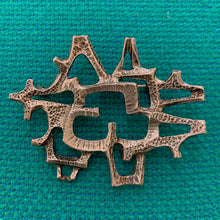 Load image into Gallery viewer, Abstract brooch in sterling silver by Else & Paul Hughes, Norway
