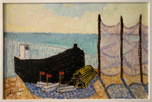 'Fishing Boat and Net' by Stig Kjellin
