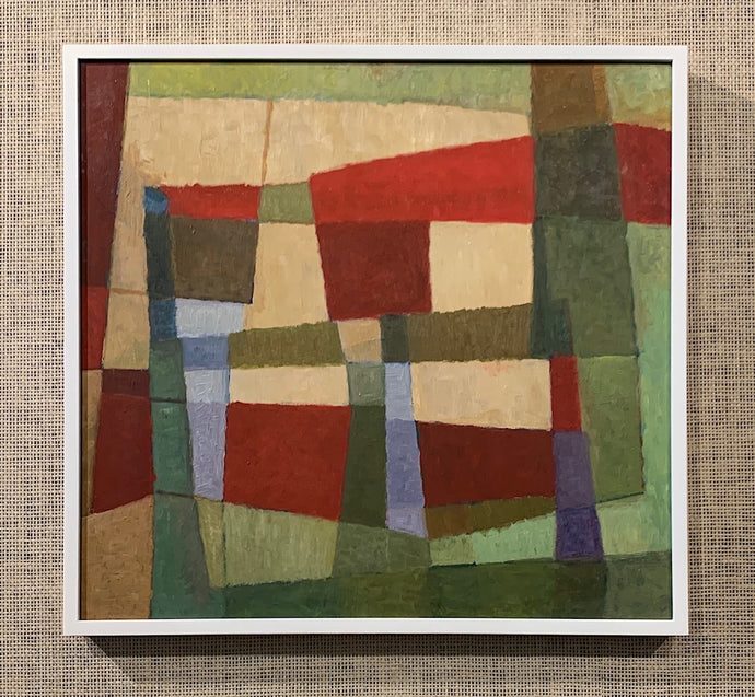 'Abstract Composition in Green, Red and Tan' by Sune Skote