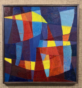 'Abstract Composition in Blue, Red and Yellow' by Sune Skote