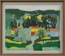 Load image into Gallery viewer, 'Landscape With Trees and Houses' by Tore Hultcrantz
