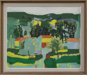 'Landscape With Trees and Houses' by Tore Hultcrantz