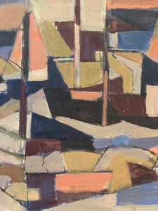 'Cubist Fishing Harbour' by Tomas Sjunnesson