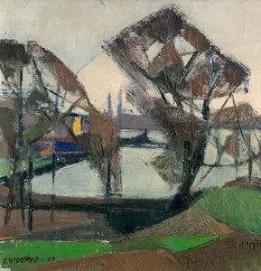 'Harbour Scene With Trees' by Tore Wideryd