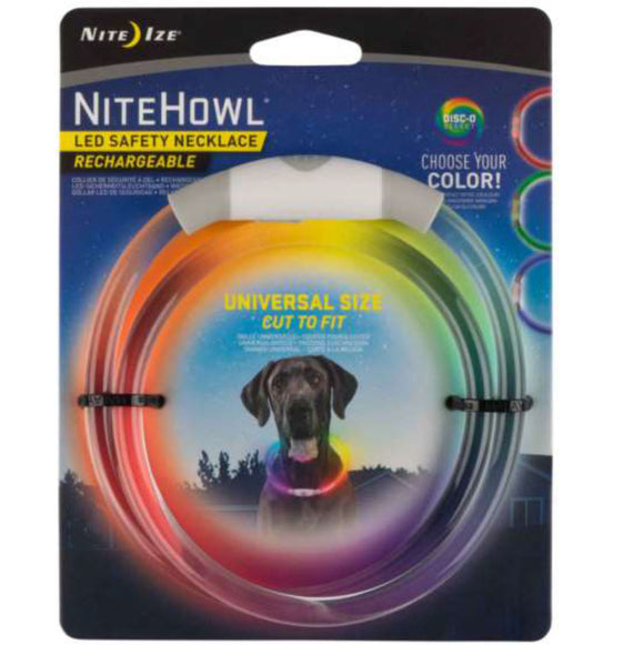 Nite Ize NiteHowl Disc-O Select Rechargeable LED Safety Necklace