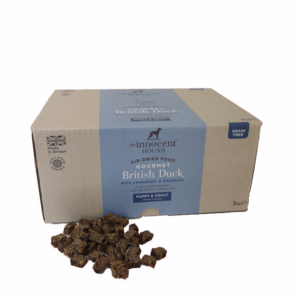 The Innocent Pet, Innocent Hound Gourmet British Duck Air-dried Complete Food  3kg
