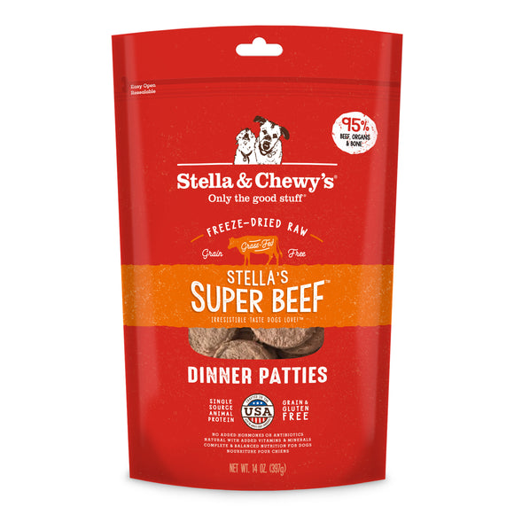 Stella & Chewy's Freeze-Dried Raw Dinner Patties Stella's Super Beef 14oz