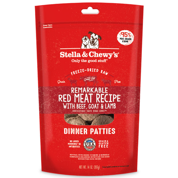 Stella & Chewy's Freeze-Dried Raw Dinner Patties Remarkable Red Meat 14oz