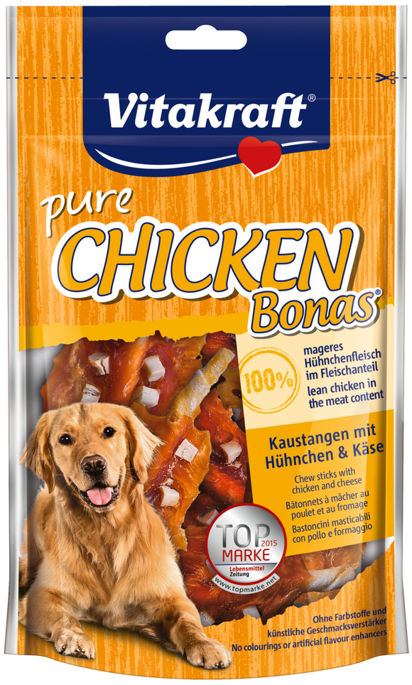 Vitakraft Chicken Bonas w Cheese 80g
