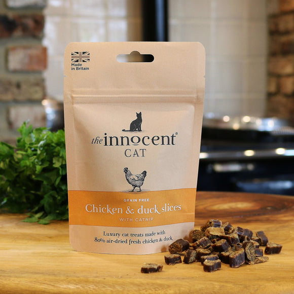 The Innocent Pet, Innocent Cat Chicken and Duck Slices with Catnip Cat Treats