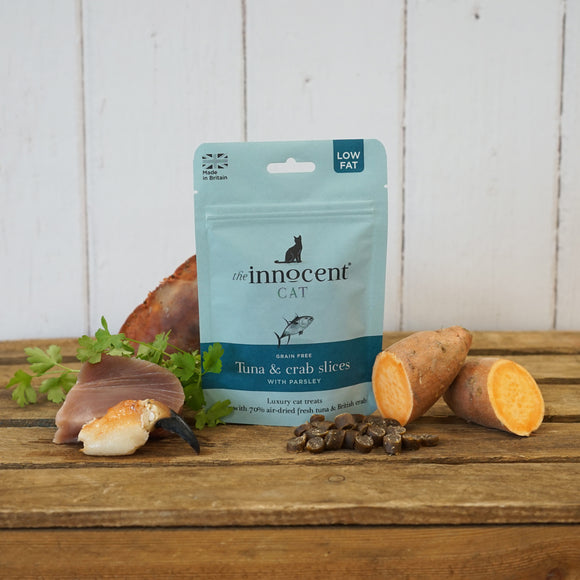 The Innocent Pet, Innocent Cat Tuna and Crab Slices with Parsley Cat Treats