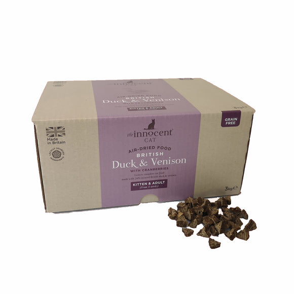 The Innocent Pet, Innocent Cat British Duck & Venison Complete Food Cat 3kg