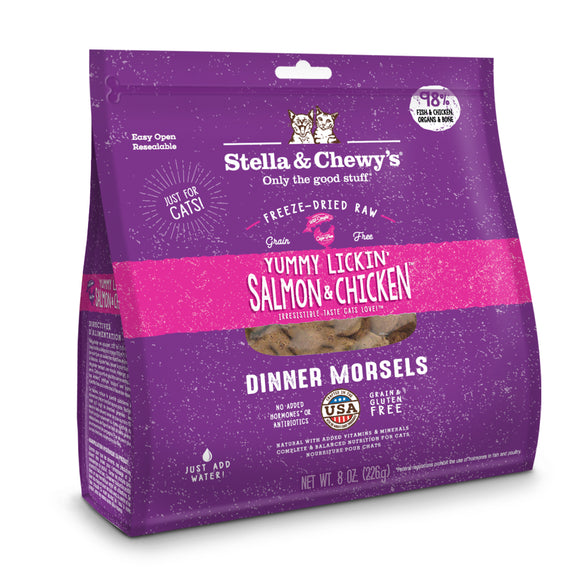 Stella & Chewy's Yummy Lickin' Salmon & Chicken Freeze-Dried Raw Dinner Morsels