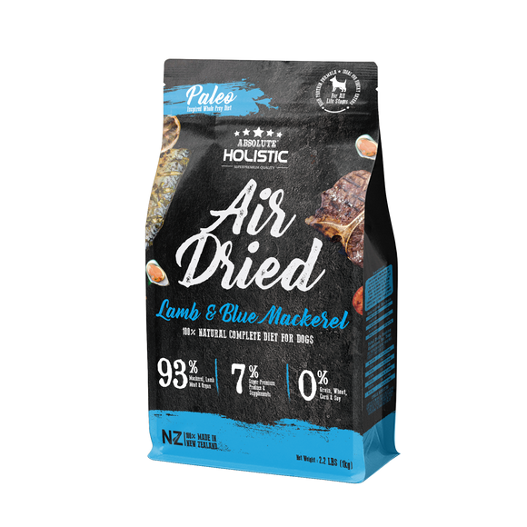 Absolute Holistic Air Dried Blue Mackerel & Lamb For Dog 1kg