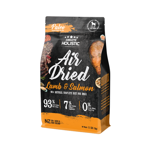 Absolute Holistic Air Dried Lamb & Salmon For Dog 1kg