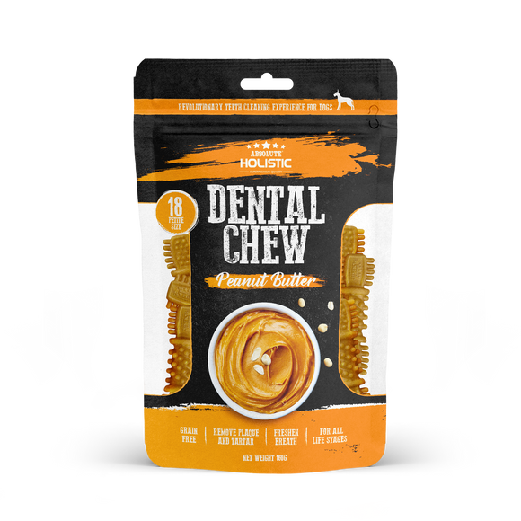 Absolute Holistic Dental Chew Value Pack Petite Size Peanut Butter 160g
