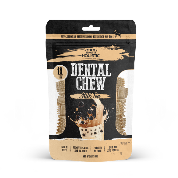 Absolute Holistic Dental Chew Value Pack Petite Size Milk Tea 160g