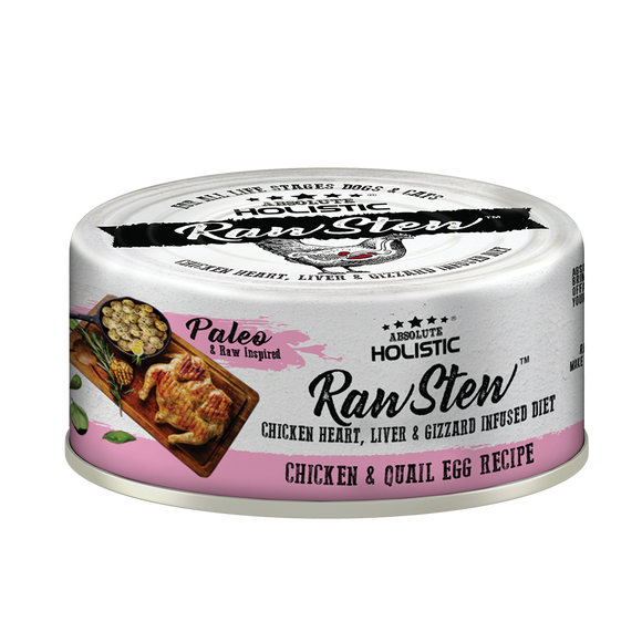 Absolute Holistic Rawstew Chicken & Quail Egg For Cats and Dogs