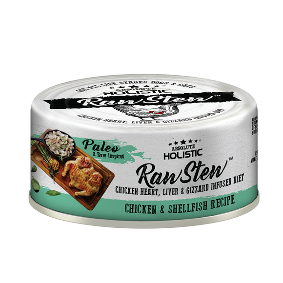 Absolute Holistic Rawstew Chicken & Shell Fish For Cats and Dogs