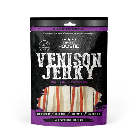 Absolute Holistic Grain Free Venison & WhiteFish Sandwich Dog Treat 100g