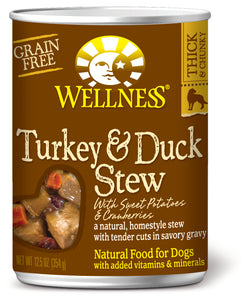 Wellness Stews Turkey & Duck with Sweet Potatoes & cranberries 12.5oz