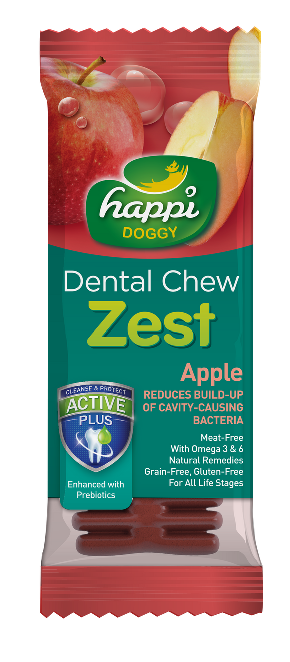 HAPPI DOGGY DENTAL CHEW ZEST - APPLE 4 INCH