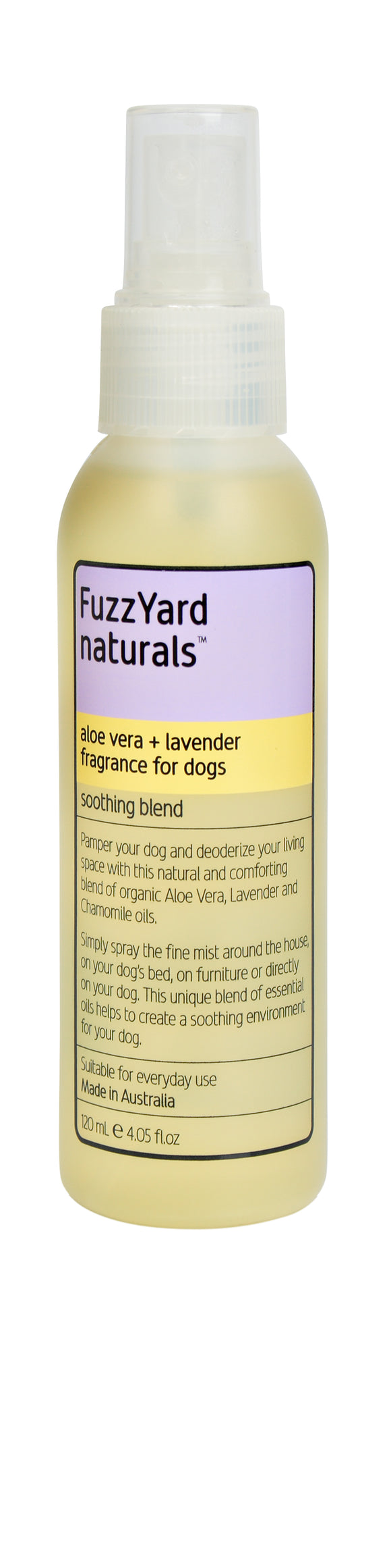 FuzzYard Aloe Vera + Lavender Soothing Spray, Fragrance For Dogs