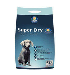 *Buy 1 Free 1*   Blue Clean Super Dry SAP 5g Super Absorbent Pee Pad (50pcs)