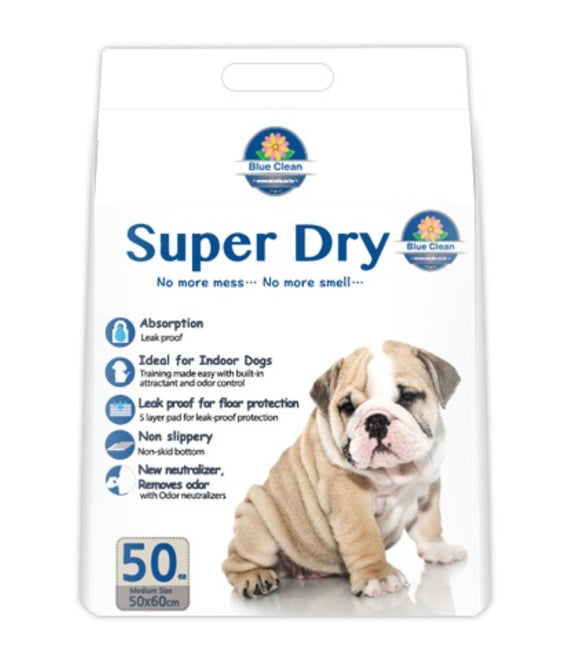 Blue Clean Super Dry SAP 7g Ultra Absorbent Pee Pad (50pcs)