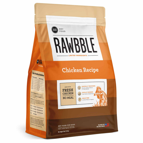 BIXBI RAWBBLE Grain Free DRY Dog Food Chicken