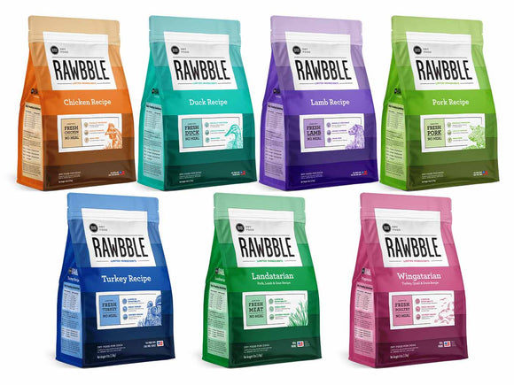 Rawbble Dog Dry Food-All Flavour