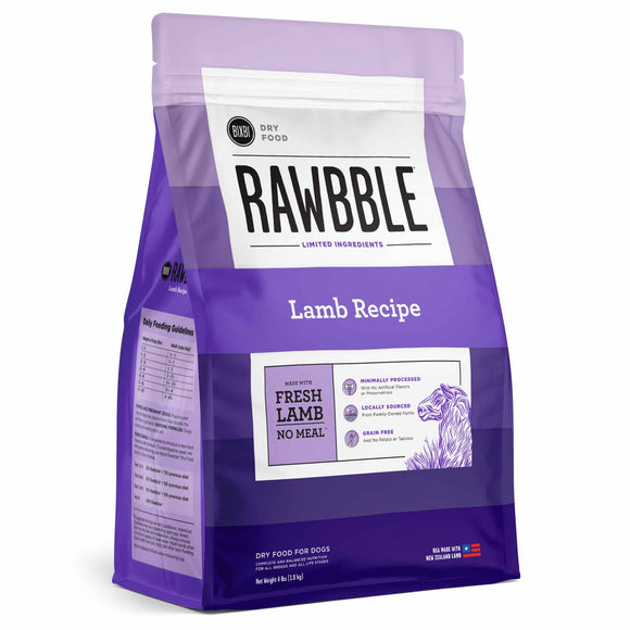 BIXBI RAWBBLE Grain Free DRY Dog Food Lamb