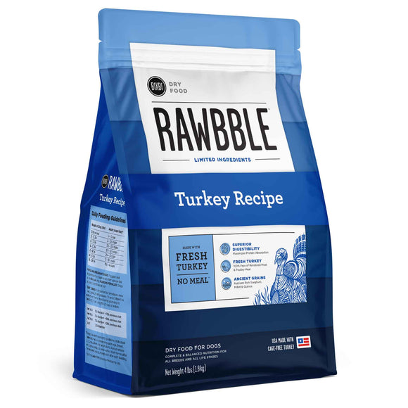 BIXBI RAWBBLE Ancient Grain Dry Dog Food Turkey