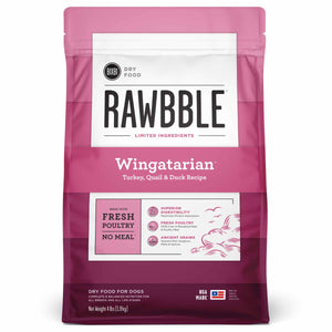 BIXBI RAWBBLE Ancient Grain Dry Dog Food Wingatarian (Turkey, Quail & Duck)