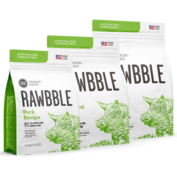 Rawbble Freeze Dried Dog Food-Pork
