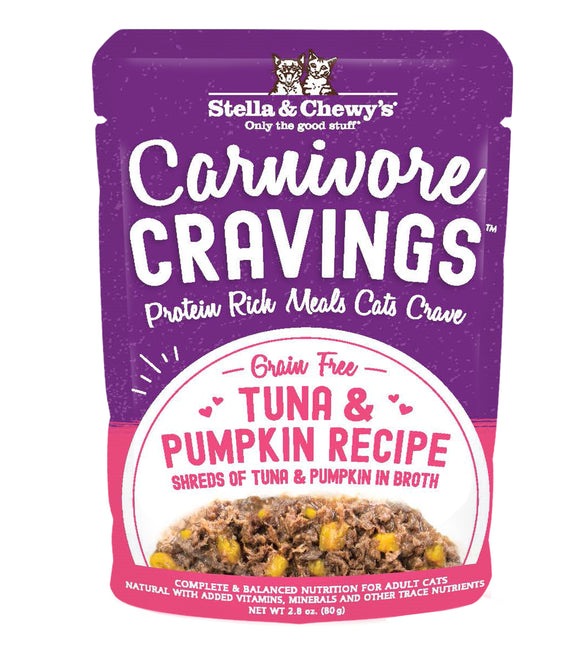 Stella & Chewy's Cat Carnivore Cravings Tuna & Pumpkin Recipe 2.8oz