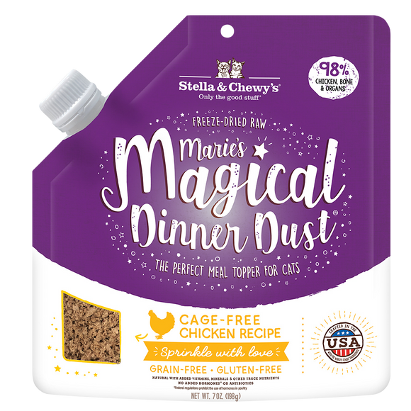 Stella & Chewy's Marie's Magical Dinner Dust Cage-Free Chicken for Cats