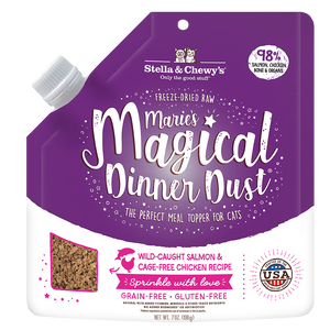 Stella & Chewy's Marie's Magical Dinner Dust Wild-Caught Salmon  Cage-Free Chicken for Cats