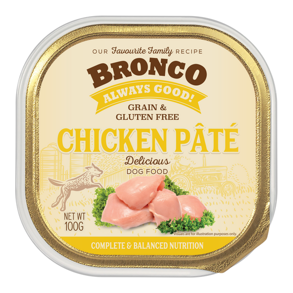 Bronco Chicken Pate Tray 100g